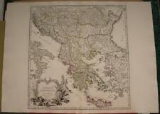 GREECE BALKAN COUNTRIES 1755 ROBERT DE VAUGONDY ANTIQUE COPPER ENGRAVED MAP