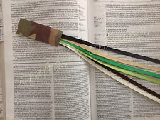 Bookmark 6 ribbons, multi page for Bible, hardcover books CAMOUFLAGE handmade