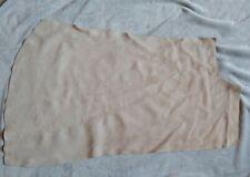 Cream Suede Split Leather Remnant LSUR7