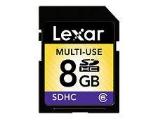 Lexar 8gb SDHC SD Memory Card Class 6