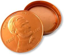 Abraham Lincoln Coin/Change/Savings Presidential Penny Bank, Made in the USA