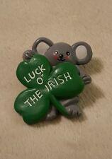 """Luck O' The Irish"" Lapel Pin Brooch St. Patrick's Day jewelry"