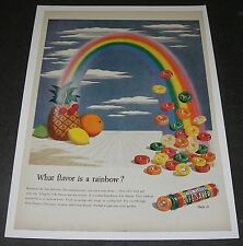 Print Ad 1945 CANDY Five Flavor Life Savers ART What Flavor is a Rainbow?