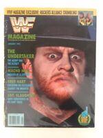 WWF Magazine 1992 January The Undertaker Bret Hart Sgt Slaughter Macho Man WCW