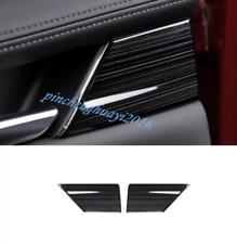 Black titanium Inner Rear Door Decorative Cover Trim For Mazda 3 2019 2020