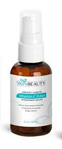 2oz Vitamin C Ester Serum-Skin Lightening Wrinkles Acne Dull Irritated Skin