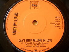 "ANDY WILLIAMS - CAN'T HELP FALLING IN LOVE     7"" VINYL"