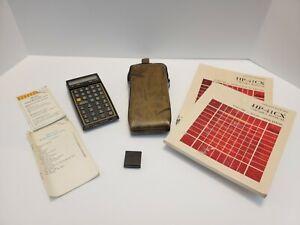 Vintage Hewlett Packard HP-41CX Scientific Calculator, Surveying Module, Manuals