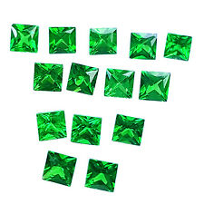 1.10 CTS SMALL SQUARE SHAPE LOT OF 14 PCS 100% NATURAL GREEN TSAVORITE / GARNET