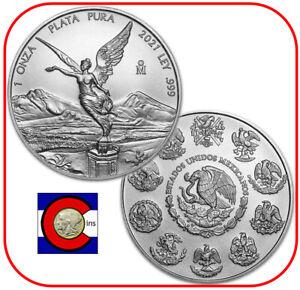 2021 Mexico BU Silver 1 oz Libertad Mexican Coin in direct fit capsule