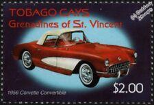 1956 CHEVROLET CORVETTE CABRIOLET CHEVY automobile voiture Tampon/2003-Tobago Cays