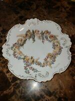 Antique hand-painted plate 1930s Cherubs Angels Beautiful Sweet