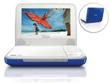 "Philips PET741N/37 Blue Widescreen 7"" Portable DVD Player Stereo Speaker mobile"
