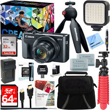 Canon PowerShot G7 X Mark II Digital Camera Video Creator Kit + 64GB Bundle