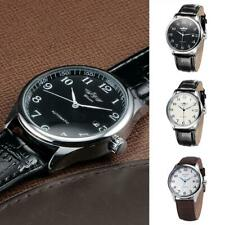 Mens Automatic Mechanical Watch Business Stainless Steel Leather Watches