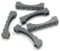 Lego Lot of 5 New Dark Bluish Gray Bricks Arch 1 x 6 Dot Pieces Parts