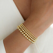 Gold Filled Beads Beaded Beaded Stretch Stackable Bohe Women Bracelets 4 5 6 8mm