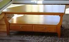 Vintage Ethan Allen Swedish Home Collection Coffee Table Pine Bisque Finish