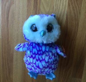 "Ty OSCAR Blue Owl Beanie Boo Buddy 9"" - Mint, No Hang Tag"