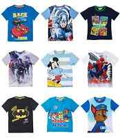 Boys Kids Official Paw Patrol Various Short Sleeve T Tee Shirt Top 3 - 12 Years
