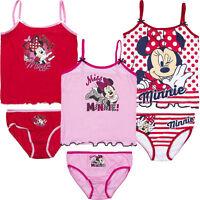 Unterwäsche 2tlg. Set Mädchen Garnitur Hemd Slip Minnie Mouse Maus 92-122 #130