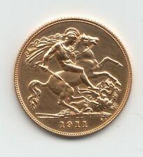 More details for rare 1911 george v proof gold half sovereign