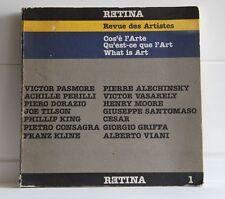 RETINA Revue des Artistes 1 Cos e' l Arte Qu est ce que l art What is Art 1982