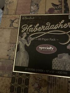 """The Haberdashery: 12""""X12"""" 60 Pg Cardstock Scrapbooking Paper Glitter Glossy Foil"""