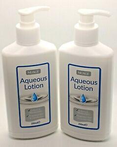 2 x Nuage Aqueous Cream Moisturising Lotion Pump Dispenser 250ml