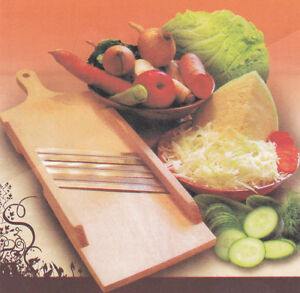 WOODEN OR PLASTIC FLAT CABBAGE SHREDDER GRATER CUTTER VEGETABLE SLICER PEELER