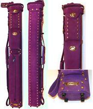 New Instroke Buffalo 2x4 Purple LTD Suede Leather Cue Case