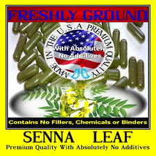 SENNA LEAVES With Absolutely No Additives High Potency 100 Vegetarian Capsules