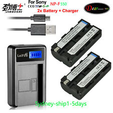 2X Battery+Charger for Sony NP-F330 NP-F550 NP-F570 F530 NP-F750 NP-F970 AU-ship