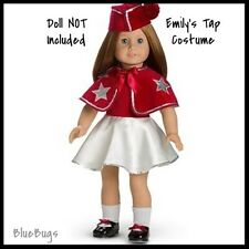 New In Box Retired American Girl Emily's Tap Costume & Hat Dress Outfit Shoes