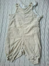 Baby Needlecord Corduroy Dungarees beige cream boy girl H&M 2-4 months 62cm