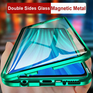 360° Magnetic Tempered Glass Case For Samsung Galaxy A52 A72 S21 S20 Metal Cover