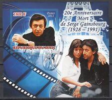 Mali, 2011 issue. Cinema, IMPERF s/sheet.