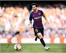 """Lionel Messi FC Barcelona Autographed 16"""" x 20"""" Chasing Ball Photograph"""