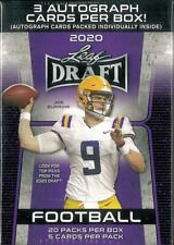 2020 LEAF DRAFT PREMIUM FOOTBALL HOBBY BLASTER BOX