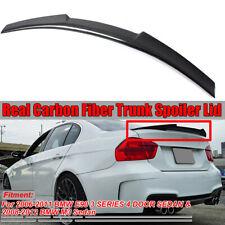 FOR 06-11 BMW E90 3 Series Sedan & M3 Carbon Fiber Trunk Spoiler Wing M4