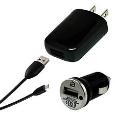 USB Data Cable+AC Wall Charger+Car Charger Motorola Droid X X2 Razr Maxx M HD