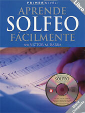 Primer Nivel Aprende Solfeo Facilmente Learn to Play Music Book & CD