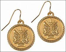 Janus Roman god of New Beginnings Earrings 24k Gold-plate Janus Charm Earrings