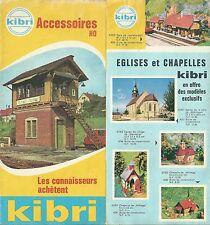 Catalogue Kibri 1960 accessoires train HO catalogo katalog jouet ancien rare
