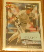1991 Topps Don Mattingly #100 Baseball Card