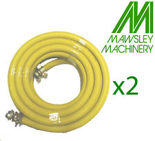 """2 X 50 FT AIR COMPRESSOR HOSE (BREAKERS,PLANT,MACHINERY) ALL RUBBER 300PSI 3/4"""""""