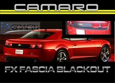 2010 - 2013 Chevrolet Camaro Rear  Fascia & Bumper Black Out 3M Quality Stripes
