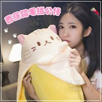 "20"" Anime Bananya Banana Cat Plush Stuffed Toys Cushion Doll  Cute Birthday Gift"