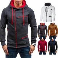 Men Warm Hoodie Hooded Sweatshirt Coat Jacket Outwear Jumper Winter Sweater Tops