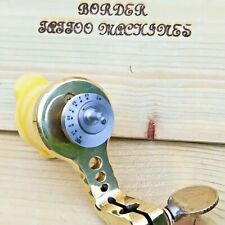 BORDER TATTOO MACHINE,HANDMADE BRASS ROTARY DIRECT-DRIVE,ADJUSTABLE 1-5MM CAM